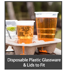 Takeaway Disposable Beer Glasses