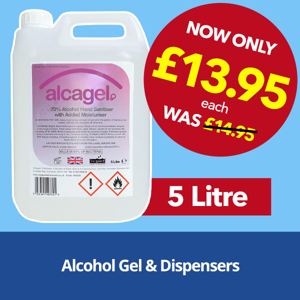 Alcohol Gel and Dispensers from Stephensons Catering Suppliers