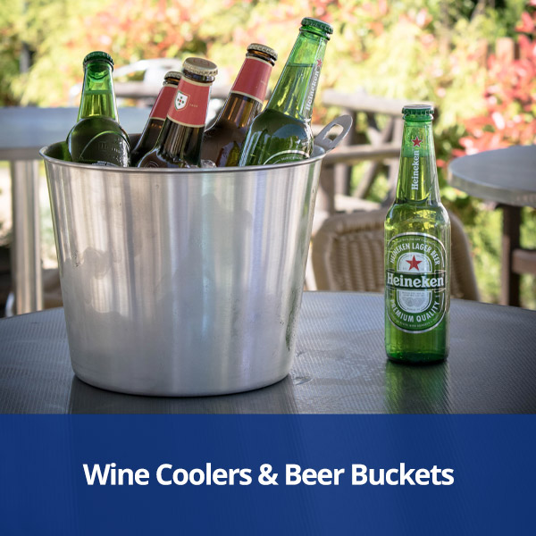Wine Coolers and Beer Buckets from Stephensons Catering Suppliers