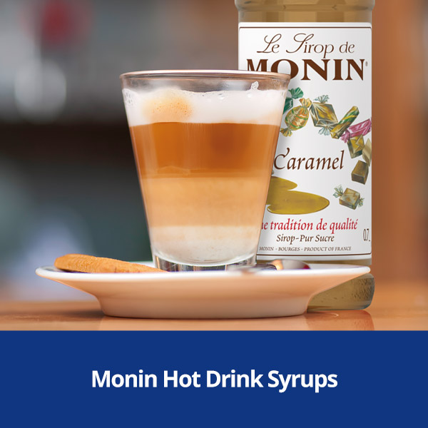 Monin Hot Drink Syrups from Stephensons Catering Suppliers