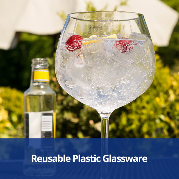 Reusable Plastic Glassware from Stephensons Catering Suppliers