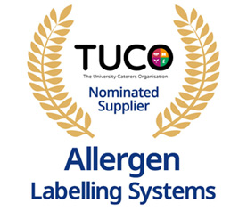 TUCO Nominated Supplier for Allergen Labelling Systems