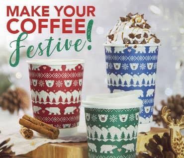 Vegware Christmas Takeaway Coffee Cups