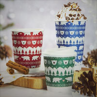 Christmas Takeaway Coffee Cups