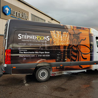 Own fleet of vans delivering to restaurants and bars