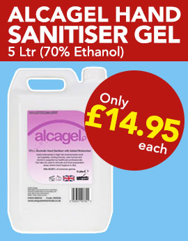 Alcohol Hand Sanitiser Gel from Stephensons Catering Suppliers