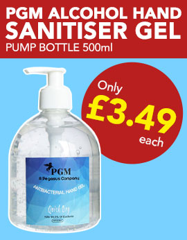 PGM Alcohol Hand Sanitiser Gel from Stephensons Catering Suppliers