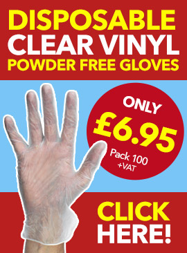Disposable Clear Vinyl Powder Free Gloves from Stephensons Catering Suppliers