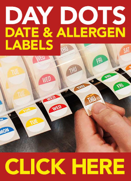 Day Dots, Date & Allergen Labels from Stephensons Catering Suppliers