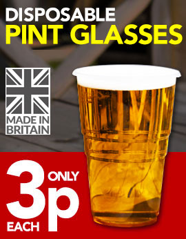 Disposable Plastic Pint Glasses