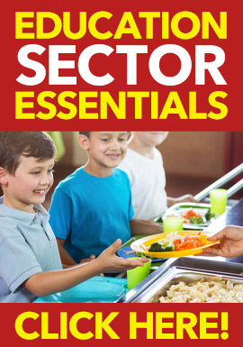 Education Sector Essential Products from Stephensons Catering Suppliers