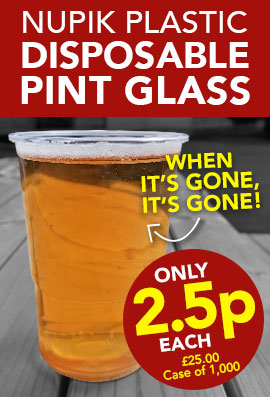 clearance disposable pint glasses