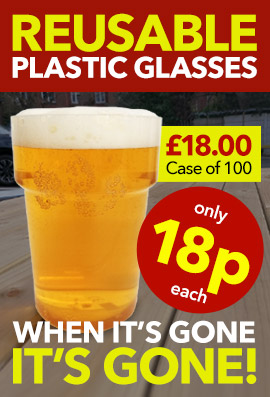 Reusable Plastic Pint Glasses