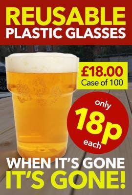 Reusable Plastic Pint Glasses