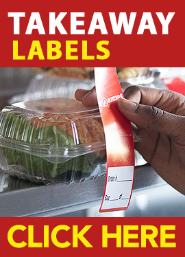 Takeaway Food Packaging Labels