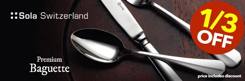 Sola Switzerland Premium 18/10 Premium Baguette Cutlery from Stephensons Catering Suppliers