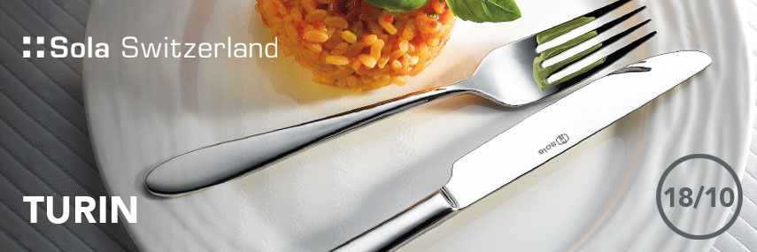Sola Switzerland Premium 18/10 Turin Cutlery from Stephensons Catering Suppliers