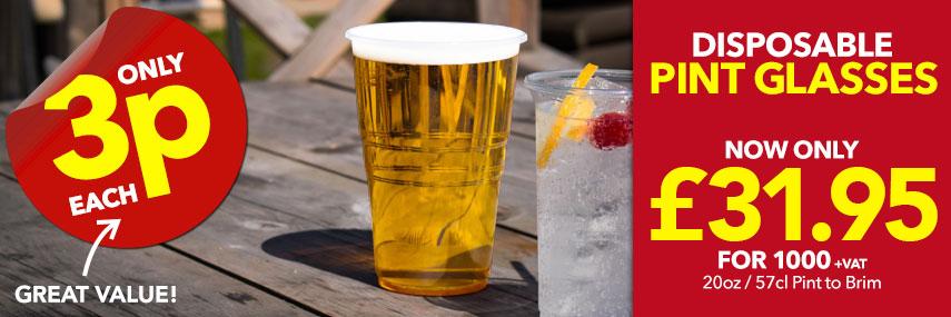 Disposable Plastic Glassware from Stephensons Catering Suppliers