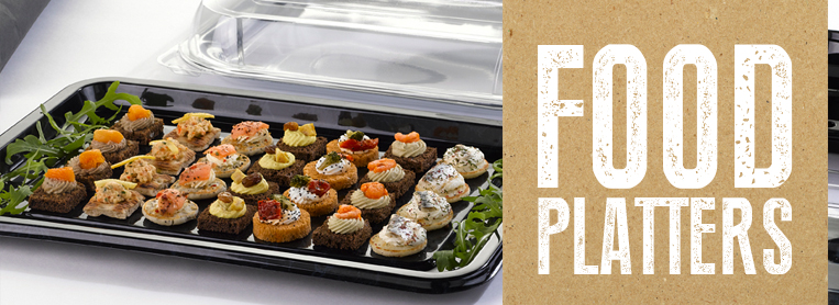 Disposable Takeaway Food Platter Trays and Covers
