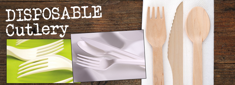 Disposable Plastic and Wooden Cutlery