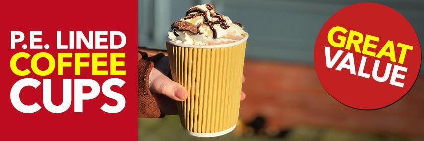 PE Lined Takeaway Coffee Cups