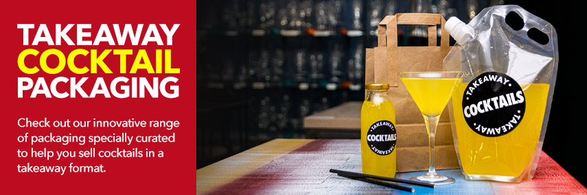 Takeaway Cocktail Packaging from Stephensons Catering Suppliers