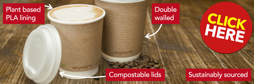 Eco-Friendly Vegware Coffee Cups