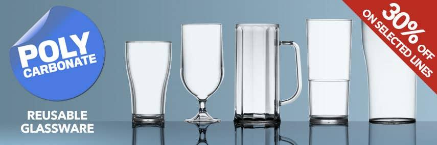 Plastic Reusable Polycarbonate Glassware