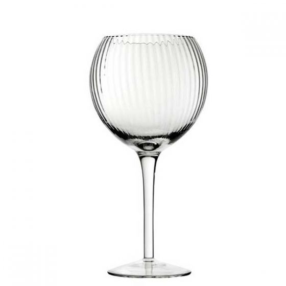 Hayworth Ribbed Gin / Cocktail Glass 20oz / 58cl