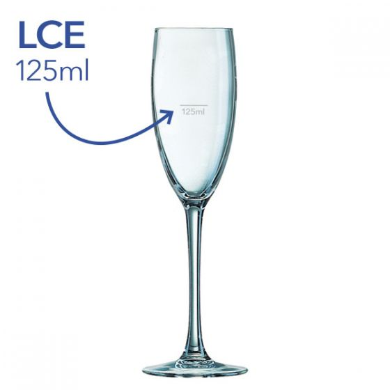 **Special Purchase** Cabernet Large Champagne Flute Lined & CE Marked@125ml 8.5oz / 24cl