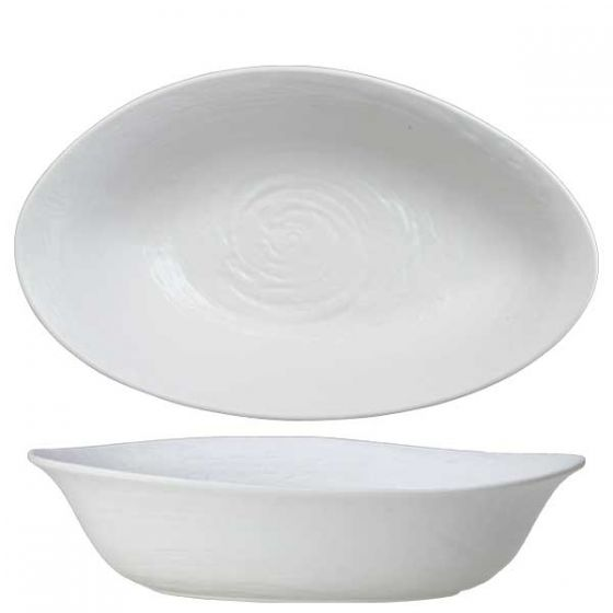 Steelite Scape Melamine White Large Oval Bowl 16x9.5x4