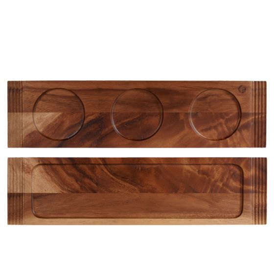 Alchemy Acacia Wooden Large Double Handled Board 19.5x5