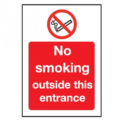 No Smoking Outside This Entrance Self Adhesive Sign 150x200mm