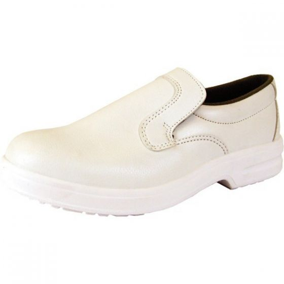 White Click Safety Slip-on Shoe Size 12