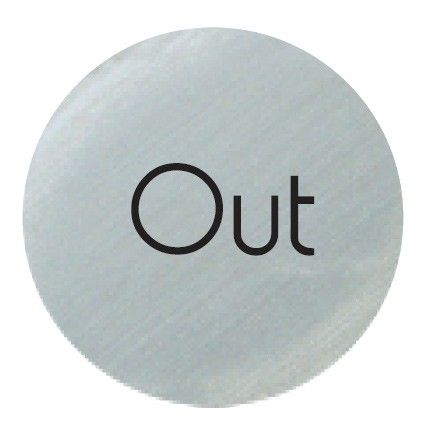 Satin Silver 'Out' Door Disc 75mm