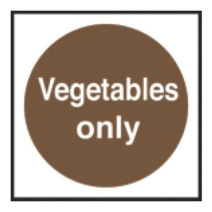 Vegetables Only Sticker 100x100mm