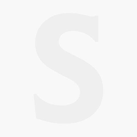Dalebrook Black/White Melamine 1/2 Fleur Crock with Silicone Feet 325x265x100mm