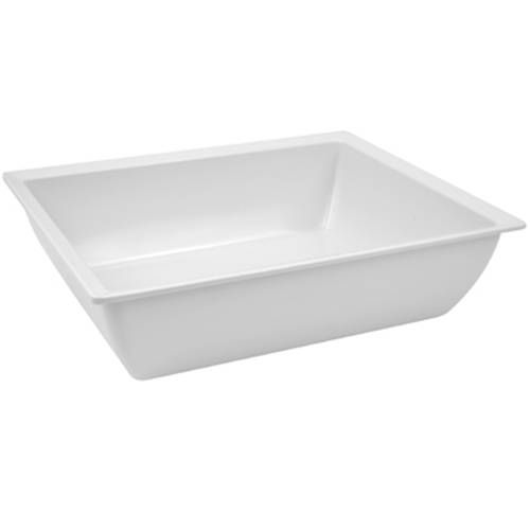 Dalebrook White 1/2 Size Melamine Classico Crock 26.5x32.5x9cm 4Ltr