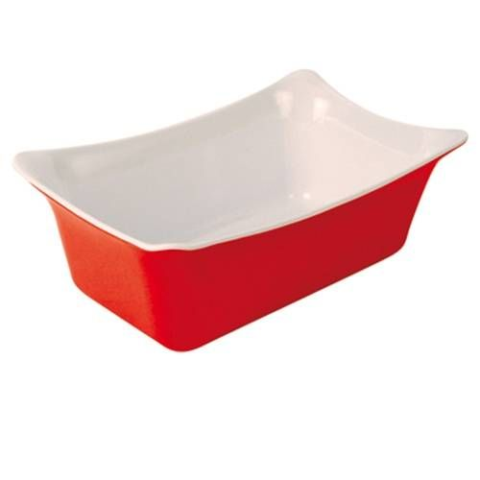 Dalebrook Red/White 1/4 Melamine Fleur Crock with Silicone Feet 265x162x100mm 2L
