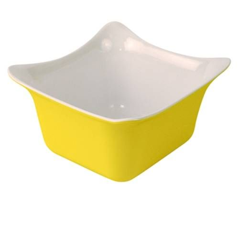 Dalebrook Yellow/White 1/6 Melamine Fleur Crock with Silicone Feet 176x162x100mm