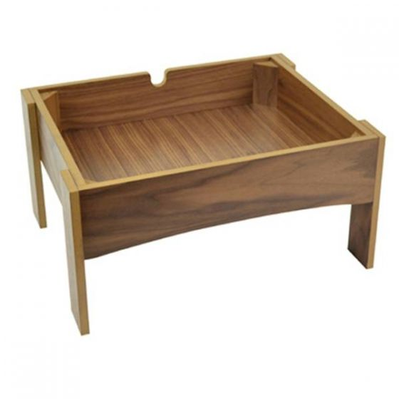 Dalebrook Walnut Veneer MDF Display Stand 285x365x182mm