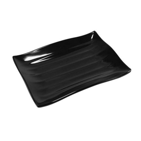 Dalebrook Black Melamine Wavy Platter 150x210x30mm