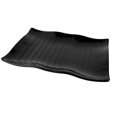 Dalebrook Black Melamine Wavy Platter 390x285x40mm