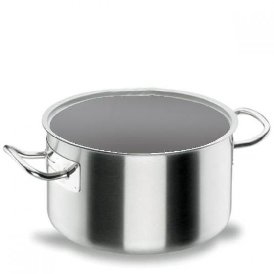Lacor Stainless Steel Deep Casserole Pan 44Ltr / 45cm