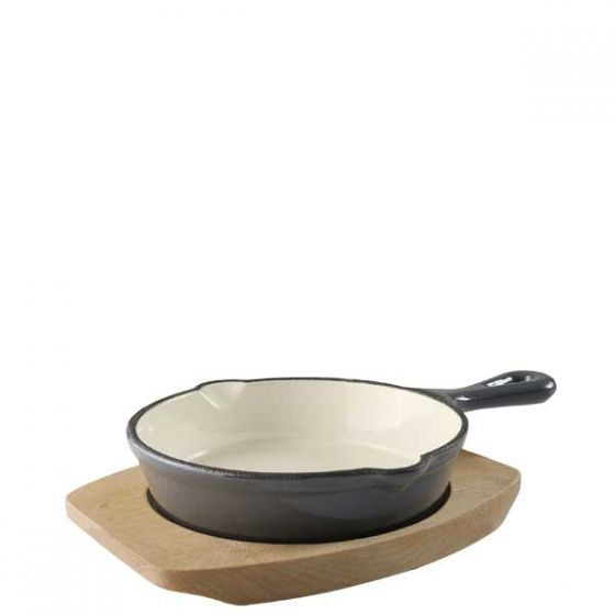 Magma Grey Cast Iron Fry Pan With Base 5.25
