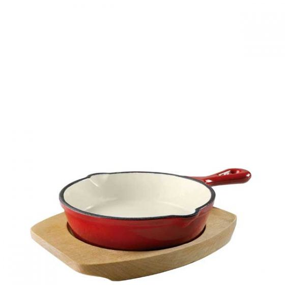 Magma Red Cast Iron Fry Pan With Base 5.25