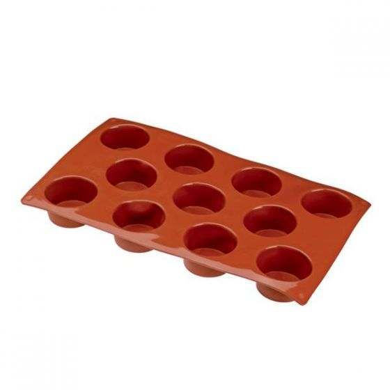 Flexible Silicone 1/3 GN 11 Mini Muffin Pastry Mould 50x28mm 45ml