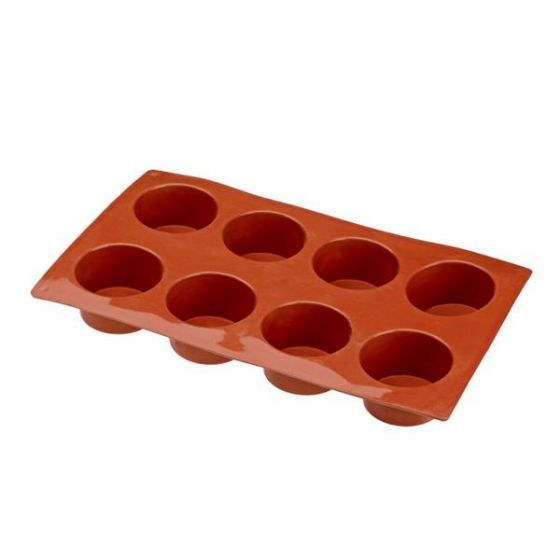 Flexible Silicone 1/3 GN 8 Cylinder Pastry Mould 60x35mm 90ml