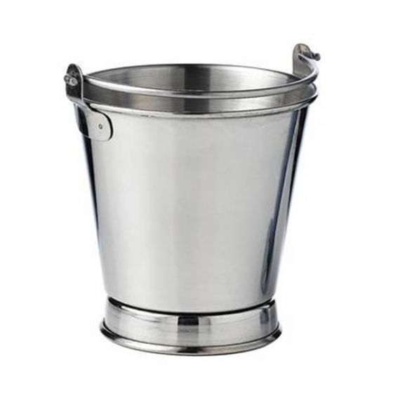 Stainless Steel French Fries Footed Bucket 4x4
