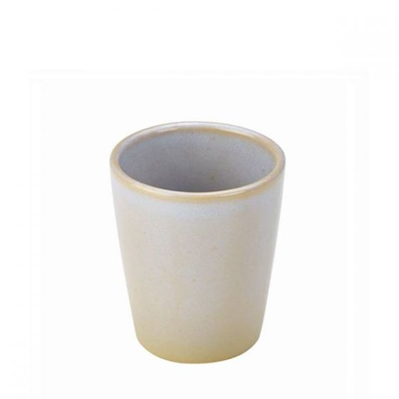 White Terra Stoneware Conical Chip Cup 4